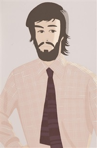 plaid shirt 1 (sold with 238b; set of 2) by alex katz