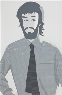plaid shirt 2 (sold with 238a; set of 2) by alex katz