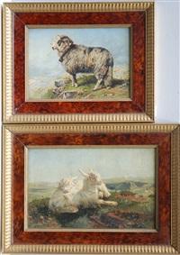 ariete e caprette (2 works) by charles h. poingdestre