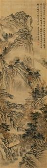 深山访友图 (landscape) by deng bin