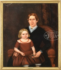 portrait of mrs. henry gray and daughter emily by joseph whiting stock