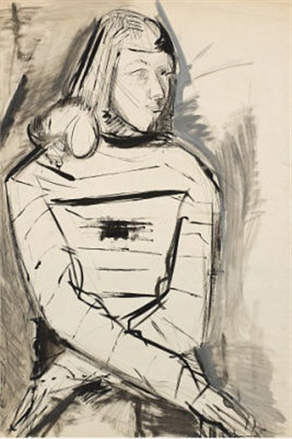 halbfigurenporträt einer dame by rudolf rudi baerwind