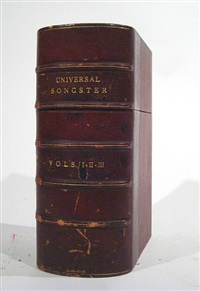 the universal songster: or museum of mirth (collab. w/robert cruikshank, bk in 3 vol. w/works, 8vo) by george cruikshank