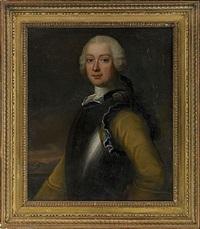 porträtt föreställande friherre georg henrik lybecker (+ hedvig christina, född von knorring; pair) by johan stålbom
