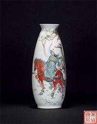 三国人物图瓶 by ren xiping