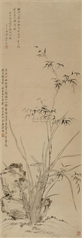 orchid and bamboo by ma shouzhen