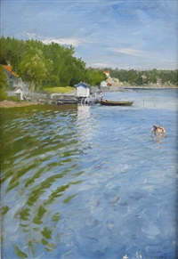 vid kristianiafjord by paul gustave fischer