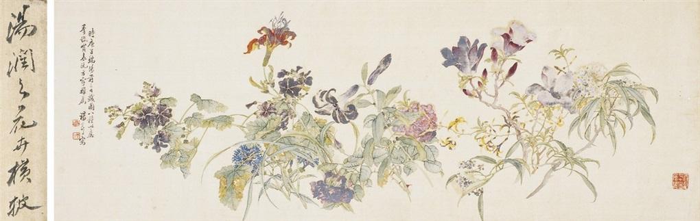 群芳争艳图 flowers by tang shishu