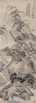 夏日山居图 (landscape) by xu ben