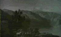 romantisch gelegener gebirgssee an einem sommertag by henri baumgartner