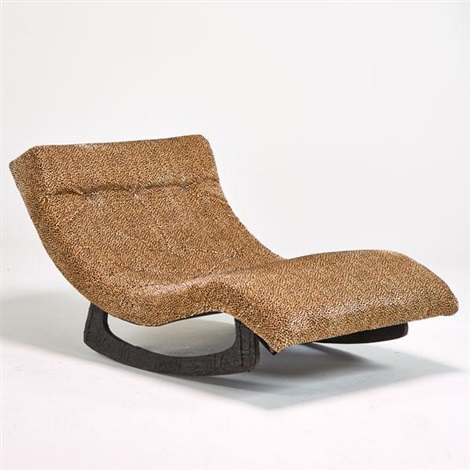 Double wide rocking chaise lounge by adrian pearsall on artnet for Adrian pearsall rocking chaise