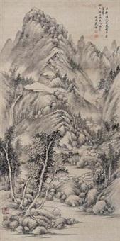 仿古山水 (landscape) by dai jian