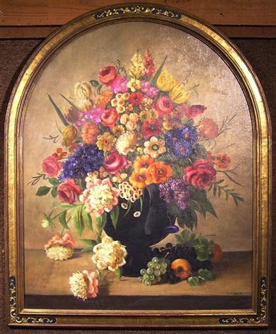 floral still life by hl sanger