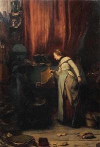 im studierzimmer by wilhelm von lindenschmit the younger