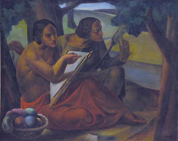 women weaving by joza kljakovic