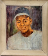 black baseball player by leroy foster