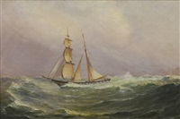 ship at sea by william formby halsall
