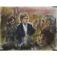 john hinckley, jr. trial sketches (85 works) by freida reiter