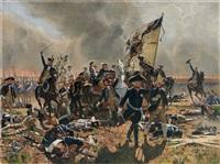 friedrich ii in der schlacht bei zorndorf 1758 by carl röchling