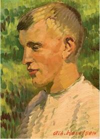 porträt eines jungen mannes by albert haueisen