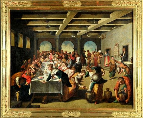 Die Hochzeit Zu Kana Kopie Nach Tintoretto 1518 1594 By Anonymous