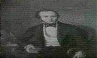 bildnis eines herrn in mittleren jahren, der in einem roten samtbezogenen sessel sitzt by m. galway