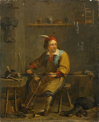 i skomakarens ateljé by david teniers the younger