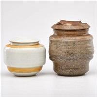 two covered jars by karen karnes