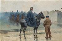 soldados de caballería by josep (josé) cusachs y cusachs
