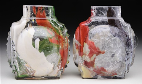 Two Leveille Internally Decorated Vases By Leveille On Artnet