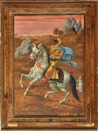 mongolischer reiter by werner peiner