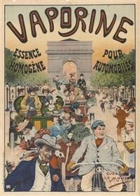 vaporine pour automobiles (poster) by eugene louis le mouel