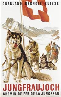 jungfraujoch (poster) by eduard weber