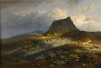 landskap från canossa by hermann (august) kruger