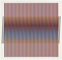 group of 4 addition chromatique color screenprints by carlos cruz-diez