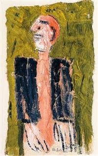 dreiviertelfigur eines stehenden mannes by herbert achternbusch