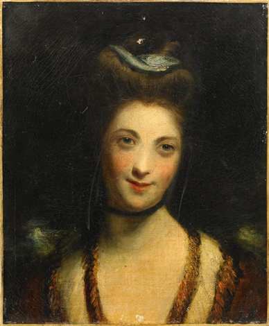 porträtt av miss ridge by joshua reynolds