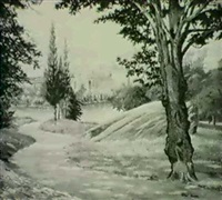 view of fairmount park, philadelphia by ethel paxson