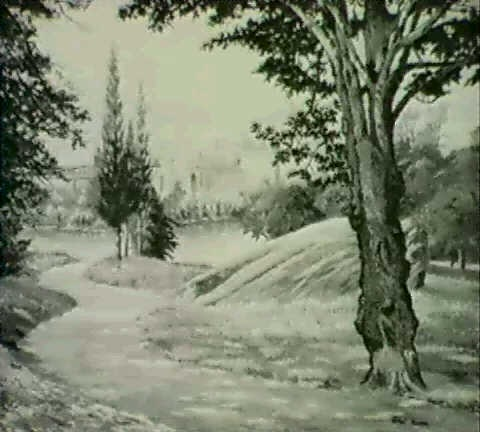 view of fairmount park philadelphia by ethel paxson