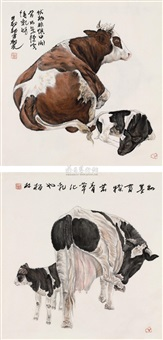 cows (2 works) by zheng bolin