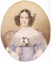 damenporträt by henri-joseph hesse