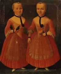 doppelporträt der schwestern caroline und elisabetha von stockum by franz lippold