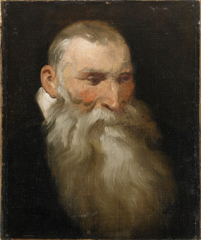 porträtt av äldre man by sir peter paul rubens