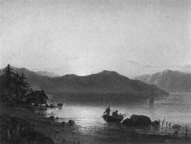 sonnenuntergang an südchinesischer küste by fritz siegfried george melbye