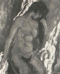 sitzender weiblicher akt by kurt lauber