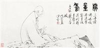 dharma in bai-miao style by fan zeng
