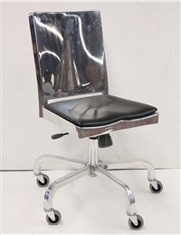 aluminum desk chair by philippe starck