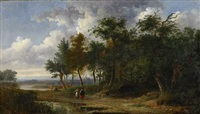 pastoralt landskap by salomon rombouts