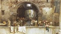 aus der halle der oktavia in rom (alter fischmarkt) by julius zielke