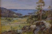 highland scene by carl olof eric lindin